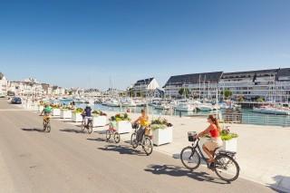 Vélo sur le port du Pouliguen
