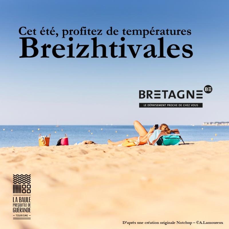 Cet été, profitez de températures Breizhtivales - © OTI La Baule - Presqu'île de Guérande / CRT Bretagne