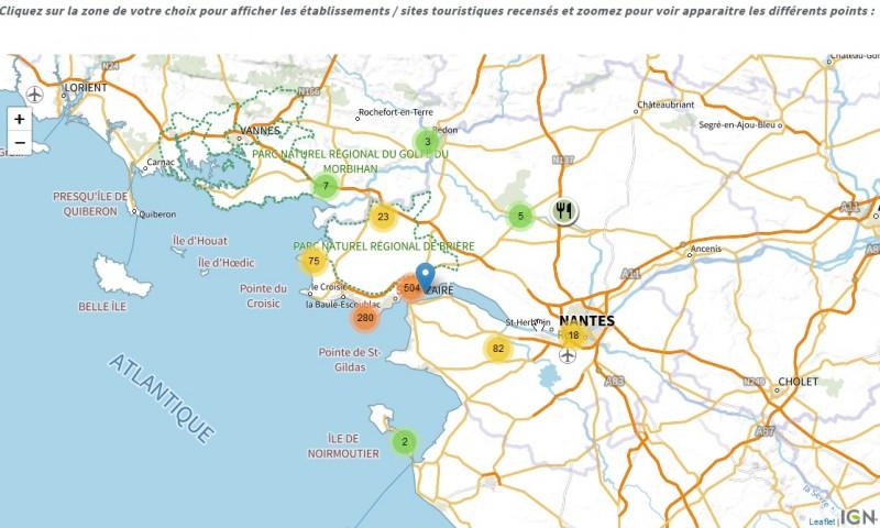 Carte interactive Cet Eté Je Visite La France
