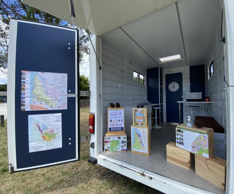 Office de tourisme mobile zéro papier la Pignotte - Médoc plein sud