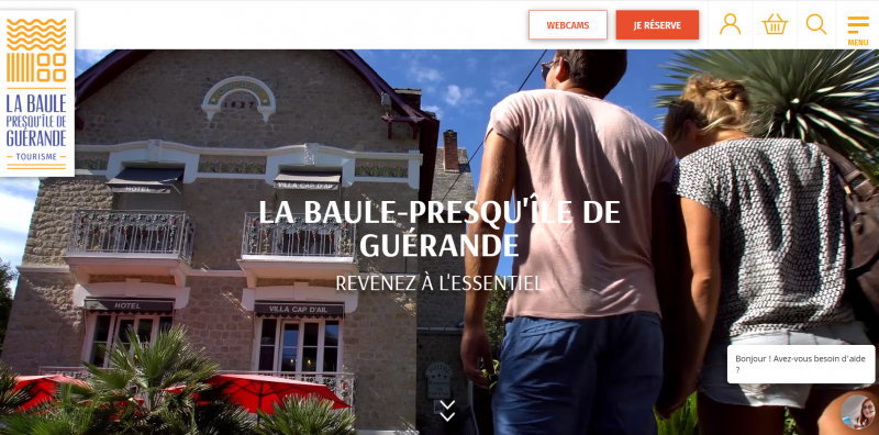 Site internet de la Destination La Baule Presqu'île de Guérande