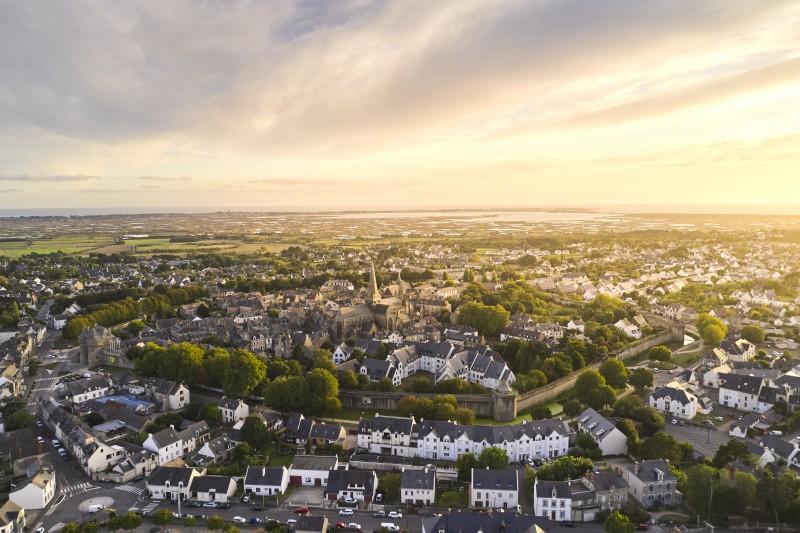 Vue aérienne de Guérande